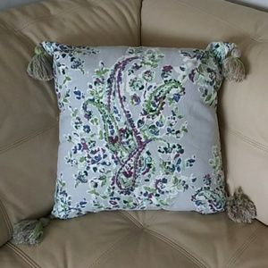 Threshold accent decorative pillow blue/gray/green